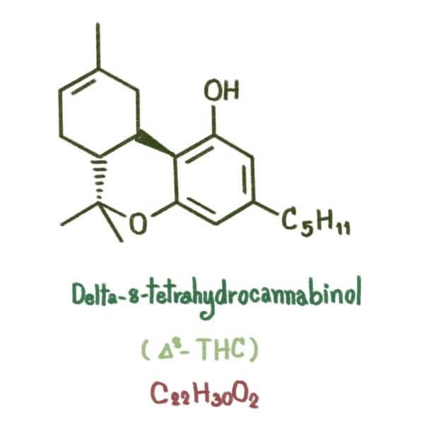delta 8 wzór chemiczny